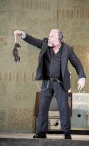 LADY MACBETH OF MTSENSK   by Shostakovich   ,conductor: Antonio Pappano   director: Richard Jones,Boris disposes of a rat: John Tomlinson (Boris Ismailov),The Royal Opera / Covent Garden   London WC2...