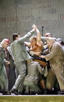 LADY MACBETH OF MTSENSK   by Shostakovich   ,conductor: Antonio Pappano   director: Richard Jones,workers abuse Aksinya: Carole Wilson (Aksinya),The Royal Opera / Covent Garden   London WC2         30...