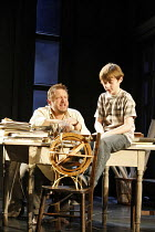 THE LIFE OF GALILEO   by Brecht, in a version by David Hare   ,director: Howard Davies   design: Bunny Christie,l-r: Simon Russell Beale (Galileo Galilei), Ryan Watson (Andrea Sarti as a boy),Olivier...
