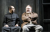 THE LIFE OF GALILEO   by Brecht, in a version by David Hare   director: Howard Davies   design: Bunny Christie,l-r: Zubin Varla (The Little Monk), Simon Russell Beale (Galileo Galilei),Olivier Theatre...