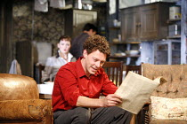 LOOK BACK IN ANGER   by John Osborne   director: Peter Gill ~Richard Coyle (Jimmy Porter), (in background) Rachael Stirling (Helena Charles) ~Theatre Royal Bath / Bath, England   22/08/2006,