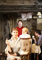 LOOK BACK IN ANGER   by John Osborne   director: Peter Gill ~l-r: Rachael Stirling (Helena Charles), Richard Coyle (Jimmy Porter), ,(back to camera) Mary Stockley (Alison Porter), Richard Harrington (...