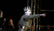 MACBETH   by Verdi   after Shakespeare   conductor: Yakov Kreizberg   director: Phyllida Lloyd,banquet scene - Macbeth sees a ^ghost^: Thomas Hampson (Macbeth),The Royal Opera / Covent Garden, London...