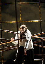 MACBETH   by Verdi   after Shakespeare   conductor: Yakov Kreizberg   director: Phyllida Lloyd,final scene - Macbeth killed: Thomas Hampson (Macbeth),The Royal Opera / Covent Garden, London WC2...