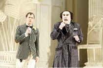 THE MIKADO   by Gilbert & Sullivan - conductor: Simon Lee   original director: Jonathan Miller,l-r: Keith Jameson (Nanki-Poo), Richard Suart (Ko-Ko),English National Opera / London Coliseum  WC2...
