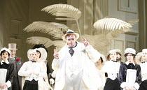 THE MIKADO   by Gilbert & Sullivan - conductor: Simon Lee   original director: Jonathan Miller,Richard Angas (The Mikado),English National Opera / London Coliseum  WC2         03/02/2006,