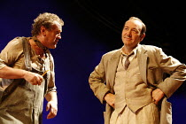 A MOON FOR THE MISBEGOTTEN   by Eugene O^Neill   director: Howard Davies,l-r: Colm Meaney (Phil Hogan), Kevin Spacey (Jim Tyrone),Old Vic Theatre, London SE1      26/09/2006,