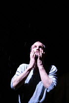 THE NIGHT OF THE IGUANA   by Tennessee Williams   director: Anthony Page,storm scene (rain barely visible): Woody Harrelson (T. Lawrence Shannon),Lyric Theatre, London W1                      05/12/20...
