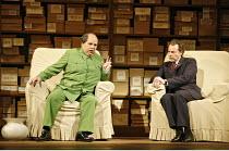 l-r: Adrian Thompson (Mao Tse-tung), James Maddalena (Richard Nixon) in NIXON IN CHINA at English National Opera (ENO), London Coliseum, London WC2  14/06/2006~music: John Adams  libretto: Alice Goodm...