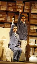 NIXON IN CHINA   music: John Adams   libretto: Alice Goodman   ,conductor: Paul Daniel   director: Peter Sellars,Act I/ii: front - Serena Kay (Nancy T^ang, First Secretary to Mao), ,rear - Alexandra S...