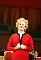 NIXON IN CHINA   music: John Adams   libretto: Alice Goodman   ,conductor: Paul Daniel   director: Peter Sellars,Act I/iii: , Janis Kelly (Pat Nixon),English National Opera / London Coliseum  WC2...