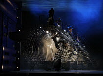 THE NOSE   by Dmitry Shostakovich   based on the story by Gogol   conductor: Valery Gergiev   director: Yury Alexandrov,the nose chases through tube representing ^cathedral^ / ^the system^ etc,Mariins...