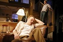 PERIOD OF ADJUSTMENT   by Tennessee Williams   director: Howard Davies,Jared Harris (Ralph Bates), (top right) Benedict Cumberbatch (George Haverstick),Almeida Theatre, London N1...
