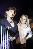 PHAEDRA'S LOVE  by Sarah Kane   director: Anne Tipton ~l-r: Diana Kent (Phaedra), Alexandra Moen (Strophe) ~Bristol Old Vic Studio, Bristol, England  24/10/2005