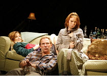 PIANO/FORTE   written & directed by Terry Johnson,l-r: Kelly Reilly (Louise), Danny Webb (Ray), Alicia Witt (Abigail),Jerwood Theatre Downstairs / Royal Court Theatre, London SW1  20/09/2006,