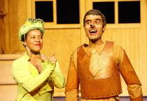 PINOCCHIO by Trish Cooke (book & lyrics) and Robert Hyman (music & lyrics)   director: Kerry Michael,Jo Melville (Jam Cricket), Richard Sumitro (Pinocchio),Theatre Royal, Stratford E15...