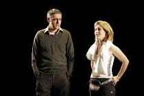 PLAYING WITH FIRE   by David Edgar   director: Michael Attenborough,Paul Bhattacharjee (Riaz Rafique), Emma Fielding (Alex Clifton),Olivier Theatre / National Theatre, London SE1            21/09/2005...