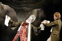 RESTORATION   by Edward Bond   director: Rupert Goold   design: Colin Richmond,l-r: Mark Lockyer (Lord Are), Michael Shaeffer (Frank),Headlong Theatre (formerly Oxford Stage Company) / Bristol Old Vic...