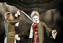 RESTORATION   by Edward Bond   director: Rupert Goold   design: Colin Richmond,l-r: Michael Shaeffer (Frank), Mark Lockyer (Lord Are),Headlong Theatre (formerly Oxford Stage Company) / Bristol Old Vic...