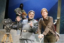RESURRECTION BLUES   by Arthur Miller   director: Robert Altman,l-r: Maximilian Schell (General Felix Barriaux), Matthew Modine (Skip L. Cheeseboro),Old Vic Theatre, London SE1       02/03/2006,
