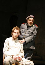 RESURRECTION BLUES   by Arthur Miller   director: Robert Altman,l-r: Peter McDonald (Stanley), Maximilian Schell (General Felix Barriaux),,Old Vic Theatre, London SE1       02/03/2006,