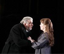 RIGOLETTO   by Verdi   conductor: Alexander Briger   original director: Jonathan Miller,Act III - Alan Opie (Rigoletto), Judith Howarth (Gilda),English National Opera / London Coliseum...