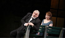 RIGOLETTO   by Verdi   conductor: Alexander Briger   original director: Jonathan Miller,Act I/ii - Alan Opie (Rigoletto), Judith Howarth (Gilda),English National Opera / London Coliseum...