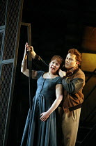 RIGOLETTO   by Verdi   conductor: Alexander Briger   original director: Jonathan Miller,Act I/ii: Judith Howarth (Gilda), Peter Auty (The ^Duke^),English National Opera / London Coliseum...