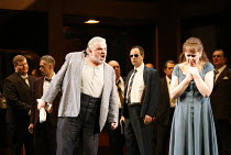 RIGOLETTO   by Verdi   conductor: Alexander Briger   original director: Jonathan Miller,Act II - Alan Opie (Rigoletto), Judith Howarth (Gilda),English National Opera / London Coliseum...