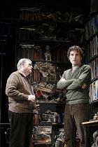 ROCK ^N^ ROLL   by Tom Stoppard   director: Trevor Nunn,l-r: Brian Cox (Max), Rufus Sewell (Jan),Jerwood Theatre Downstairs / Royal Court Theatre, London SW1        14/06/2006,