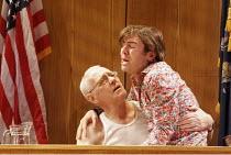 ROMANCE   by David Mamet   director: Lindsay Posner,l-r: John Mahoney (Judge), Paul Ready (Bernard),Almeida Theatre, London N1                  14/09/2005,