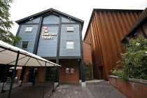 HENRY VI  by Shakespeare   director: Michael Boyd   opening production in,Courtyard Theatre - exterior (theatre stage/auditorium housed in steel block at right),part of RSC ^The Complete Works^ Festiv...