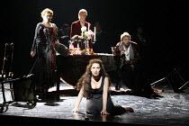 SALOME   by Richard Strauss   conductor: Kwame Ryan   director: David Leveaux,front centre: Cheryl Barker (Salome)   rear left: Sally Burgess (Herodias)   right: John Graham-Hall (Herod Antipas) ~Engl...