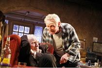 THE SEAFARER   written & directed by Conor McPherson,l-r: Jim Norton (Richard Harkin), Karl Johnson (James ^Sharky^ Harkin),Cottesloe Theatre / National Theatre, London SE1        28/09/2006,