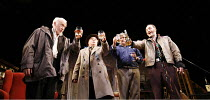 THE SEAFARER   written & directed by Conor McPherson,l-r:  Jim Norton (Richard Harkin), Ron Cook (Mr Lockhart), Conleth Hill (Ivan Curry), Michael McElhatton (Nicky Giblin),Cottesloe Theatre / Nationa...