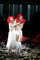 THE SEVEN DEADLY SINS   music: Kurt Weill   text: Bertolt Brecht   ,conductor: Roberto Minczuk   director: Francois Girard,l-r: Gun-Brit Barkmin (Anna 1), Capucine Goust (Pride),Opera National de Lyon...