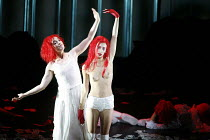 THE SEVEN DEADLY SINS   music: Kurt Weill   text: Bertolt Brecht   conductor: Roberto Minczuk   director: Francois Girard,l-r: Gun-Brit Barkmin (Anna 1), Capucine Goust (Pride),Opera National de Lyon...