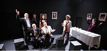 SIT AND SHIVER   written & directed by Steven Berkoff,l-r: Linal Haft (Lionel), (seated) Barry Davis (Sam), Iddo Goldberg (Mike), Leila Crerar (Sylv), (seated) Saul Reichlin (Morris), Bernice Stegers...
