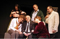 SIT AND SHIVER   written & directed by Steven Berkoff,front, seated, l-r: Bernice Stegers (Betty), Barry Davis (Sam), Sue Kelvin (Debby),rear, standing, l-r: Leila Crerar (Sylv), Iddo Goldberg (Mike),...