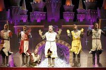 Monty Python^s SPAMALOT   book & lyrics: Eric Idle   music: John Du Prez & Eric Idle   director: Mike Nichols,centre: Tim Curry (King Arthur),Palace Theatre, London W1         16/10/2006,