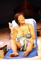 SUGAR MUMMIES   by Tanika Gupta   director: Indhu Rubasingham,Lynda Bellingham (Maggie),Jerwood Theatre Downstairs / Royal Court Theatre, London SW1  10/08/2006,