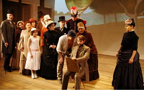 SUNDAY IN THE PARK WITH GEORGE   music & lyrics: Stephen Sondheim   book: James Lapine   director: Sam Buntrock,seated centre: Daniel Evans (George)   right: Anna Jane Casey (Dot),Menier Chocolate Fac...