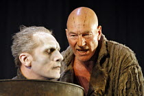 THE TEMPEST   by Shakespeare   director: Rupert Goold,I/ii - l-r: Julian Bleach (Ariel), Patrick Stewart (Prospero) ,part of RSC ^The Complete Works^ Festival - April 2006-March 2007,Royal Shakespeare...