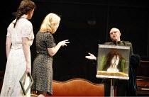 THREE SISTERS   by Chekhov   direction and set design: Krystian Lupa,l-r: Sarah Grace Wilson (Irina), Kelly McAndrew (Olga), Thomas Derrah (Chebutykin),American Repertory Theatre / King^s Theatre, Edi...