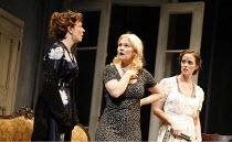 THREE SISTERS   by Chekhov   direction and set design: Krystian Lupa,l-r: Molly Ward (Masha), Kelly McAndrew (Olga), Sarah Grace Wilson (Irina),American Repertory Theatre / King^s Theatre, Edinburgh...