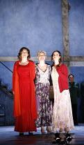THREE SISTERS   by Chekhov   direction and set design: Krystian Lupa,final scene, facing the future together ,l-r: Molly Ward (Masha), Kelly McAndrew (Olga), Sarah Grace Wilson (Irina),American Repert...