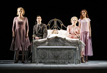 THREE TALL WOMEN   by Edward Albee   director: Irena Brown,l-r: Diane Fletcher, Sam Curtis, Marjorie Yates, Anna-Louise Plowman,Oxford Playhouse / Oxford, England                 02/05/2006...