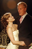 ^TIS PITY SHE^S A WHORE   by John Ford   director: Edward Dick,l-r: Mariah Gale (Annabella), Laurence Fox (Soranzo),nevertheless / Southwark Playhouse, London SE1         03/10/2005,