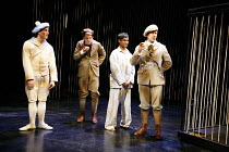 TOM^S MIDNIGHT GARDEN   by David Wood   adapted from the book by Philippa Pearce   director: Tony Graham,l-r: James Andrews (Hubert), Pete Ashmore (James), Rudi Dharmalingam (Tom), David Ricardo-Pearc...