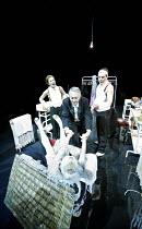 TONIGHT AT 8.30   by Noel Coward   director: Lucy Bailey,'Red Peppers' l-r: Josefina Gabrielle (Lilly Pepper), Nigel Anthony (Mr Edwards), ,(in basket) Susan Wooldridge (Mabel Grace), Alexander Hanson...